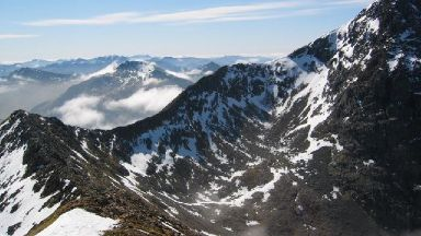 Carn Mor Dearg: Eighth highest Scottish mountain.
