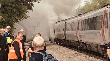 Train fire near Derby, July 2018