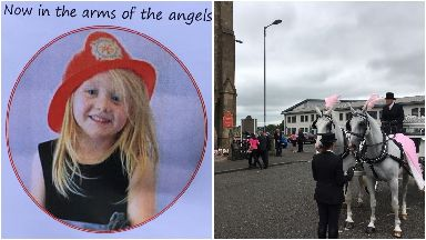 Family of Alesha MacPhail arrive at funeral July 21 2018