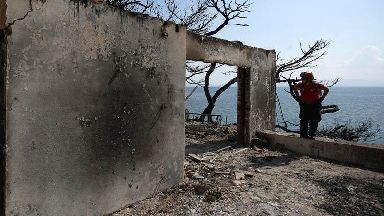 Fishermen joined rescue mission as people fleeing Greek fires headed into sea
