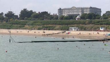 A teenage boy has gone missing in the water in Clacton - the search is set to resume on Friday morning.
