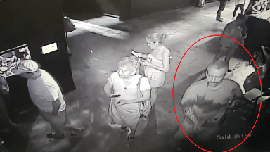 Footage shows suspects 'stealing shark from aquarium by disguising it as a baby'