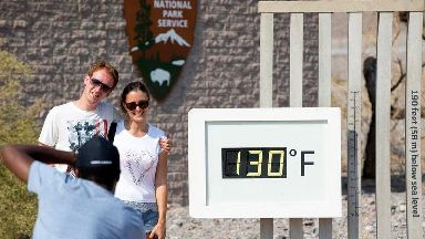 California's Death Valley sets world record for hottest ever July