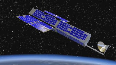 Orbital Micro Systems cubesat which will be launched from Sutherland spaceport.