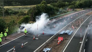 Fire: On M90.