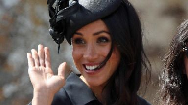 In pictures: Double celebration as Meghan enjoys 37th birthday at wedding