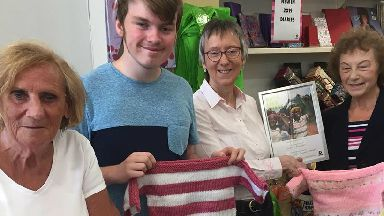 Valerie Ashworth, 78, knits