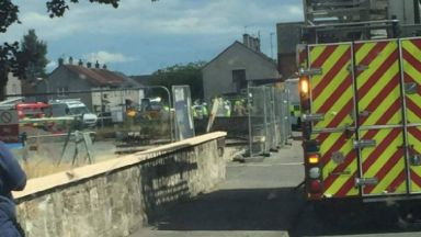 Fife: Man's leg trapped in substance. Napier Road Glenrothes