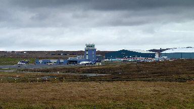 Scatsta Airport in Shetland generic/stock