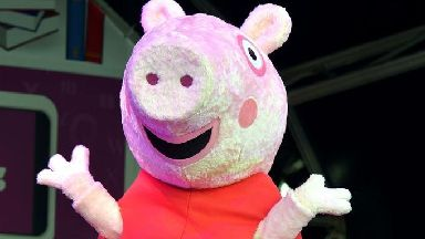 The alleged incident happened after a Peppa Pig show.