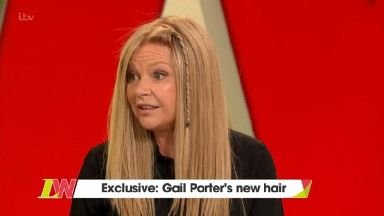 Gail Porter cries as she wears a wig for the first time in 13 years