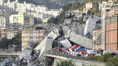 Rescuers search for survivors after Genoa bridge collapse