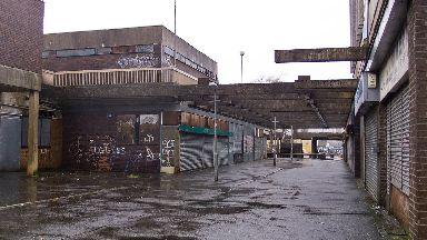 Derelict shopping centre in Linwood, Renfrewshire.