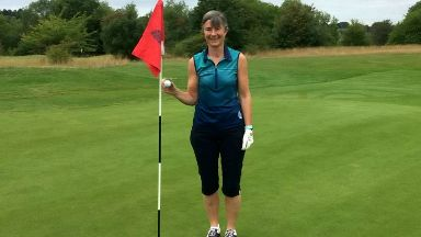 Amateur golfer Ali Gibb, who landed three hole-in-ones.