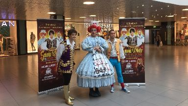 Pantomime stars: Appeared in Aberdeen.