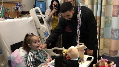 Drake pays surprise visit to 11-year-old girl awaiting heart transplant