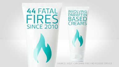 Paraffin skin creams are suspected as part of the cause of dozens of deaths since 2010.