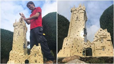 Legoland Wallace Monument with builder Tim MacPhee 2018