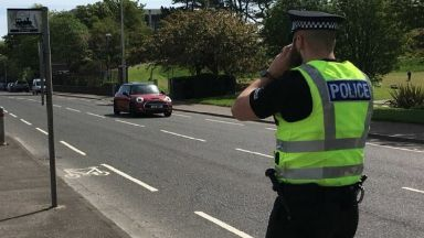 Speeding: Officers stopped the Audi A3. Police speed camera
