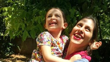 Nazanin Zaghari-Ratcliffe pictured with her daughter Gabriella during her release.