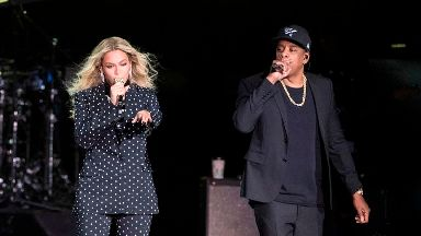 Fan charged after rushing on stage at Beyonce and Jay-Z concert