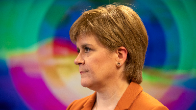First Minister Nicola Sturgeon during a visit to the Auchrannie spa resort in Brodick on the Isle of Arran, where a new national body to promote employee ownership of businesses was announced.