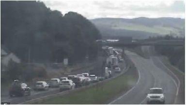 Crash: Major delays were caused following collision.