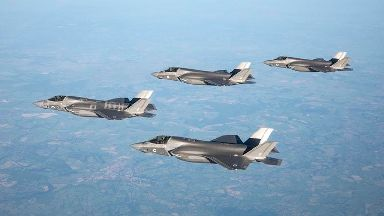 Stealth jet takes to skies armed with British missiles