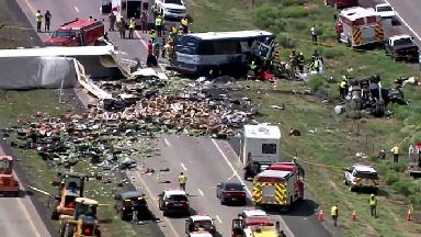 The crash occurred in New Mexico, near the Arizona border