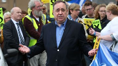 Alex Salmond: No longer seeking donations.