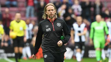 New role: Austin MacPhee took charge of Hearts as Craig Levein recovers.
