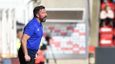 Defeat: Derek McInnes' Dons lost at home to Kilmarnock.