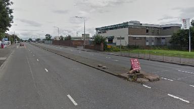 London Road, near Helenslea Park, in Glasgow.