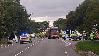 Police car involved in two vehicle crash on A9 near Delny on September 3 2018