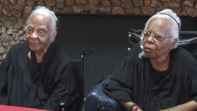 Celebrating 102 years: Ann and Gussie Crumby.