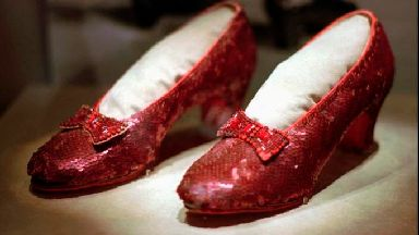 One of the four pairs of ruby slippers.