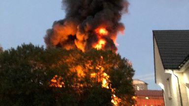 Fire: In Hamilton.