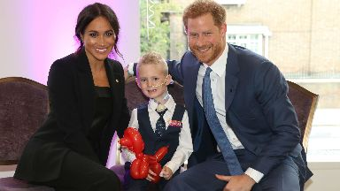 McKenzie Brackley with Duke and Duchess of Sussex