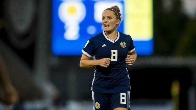 Sidelined: Scotland's Kim Little has suffered a fractured fibula.
