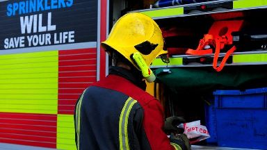 Emergency services tackle fire at farm building with asbestos in roof