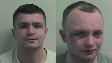 Kidnappers: The pair have been jailed for almost 16 years. Renfrew Kidnap Christopher Rennie Anthony Wright