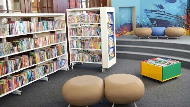 Montrose library children's area August 2018