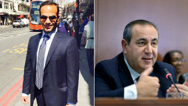 Collage of George Papadopoulos and Professor Joseph Mifsud.