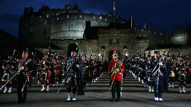 File photo dated 31/07/14 of band members perform during a dress rehearsal for the Royal Edinburgh Military Tattoo at Edinburgh Castle