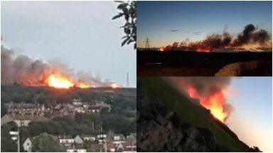Wildfires: Cause still not known. Aberdeen The Gramps Tullos Hill