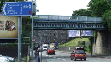Roseburn Bridge: The man chased her on foot. Edinburgh