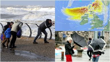 Storm: Gusts of around 80mph expected. Weather Storm Helene