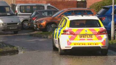 Man gunned down by two masked men at an address in Cuthelton Terrace.