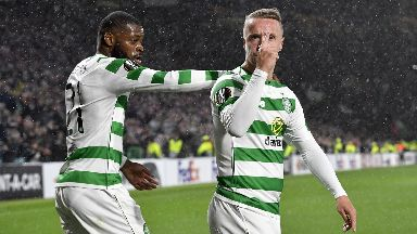 Main man: Griffiths made the difference for Celtic.
