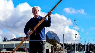 Duncan Hutchinson: Rowing thousands of miles.